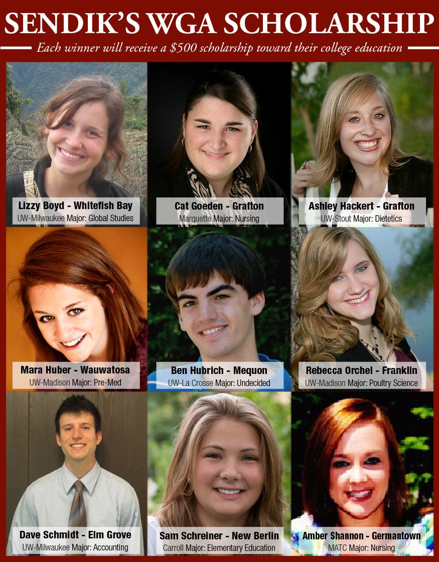 2012 WGA Scholarship Winners
