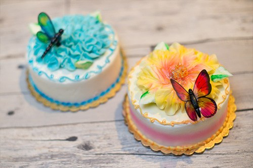 Decorated cake with butterflies