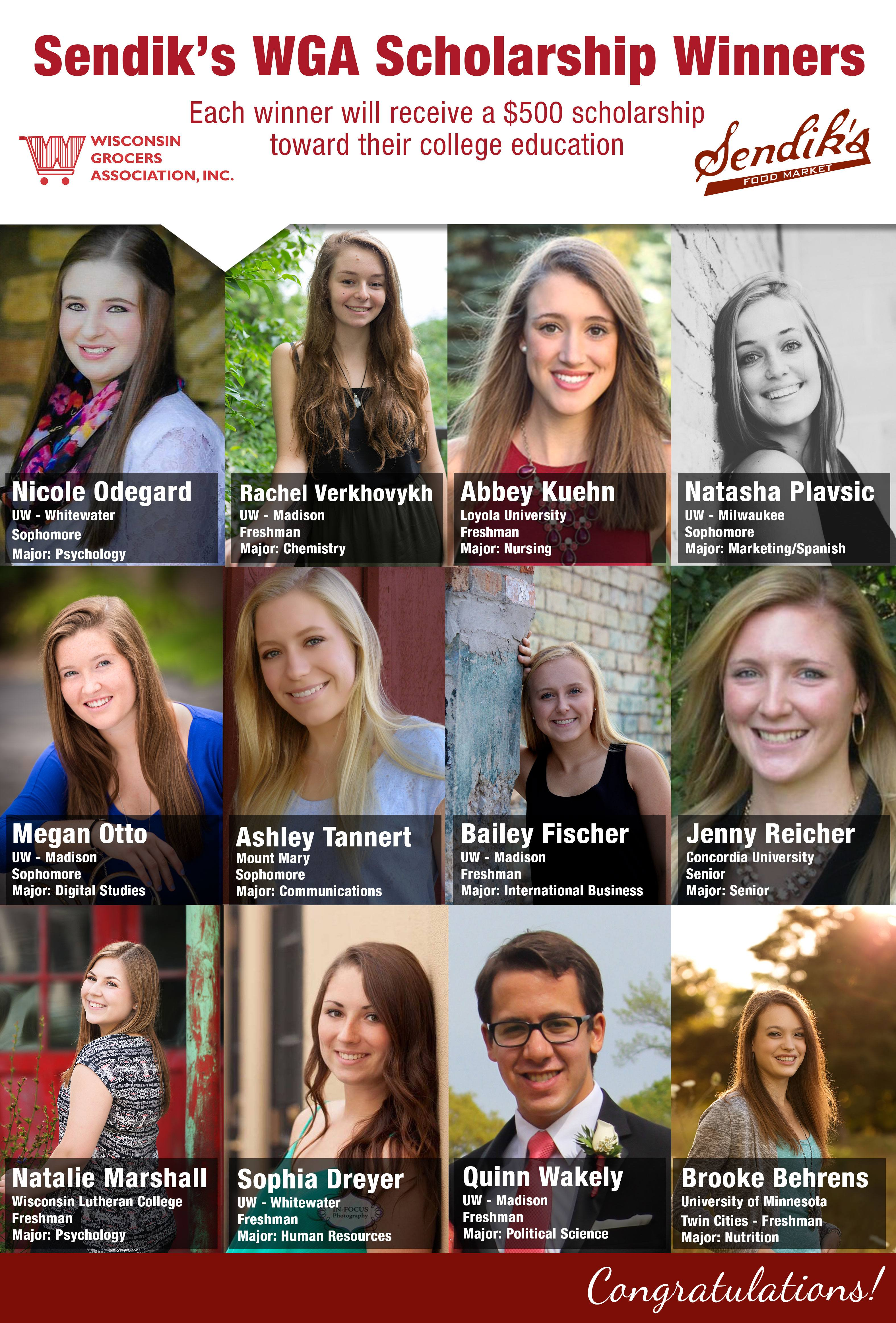 2016 WGA Scholarship Winners