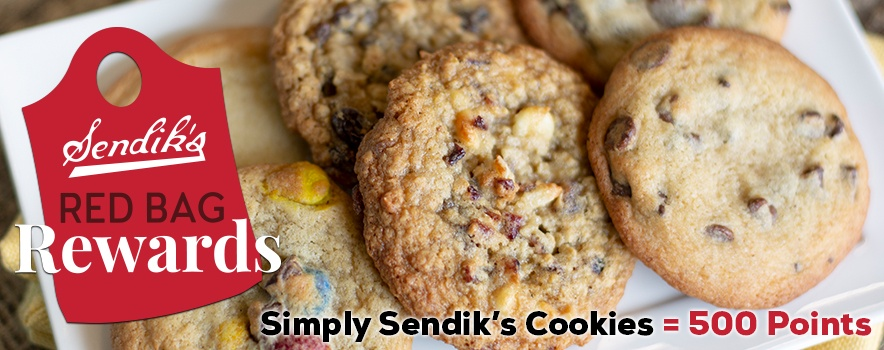 Simply Sendik's Cookes = 500 Red Bag Rewards Points
