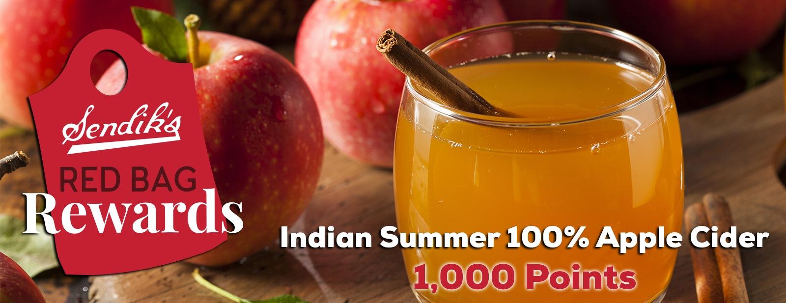 Indian Summer Apple Cider