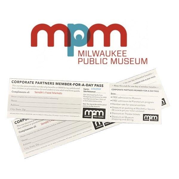 Milwaukee Public Museum One Day Pass