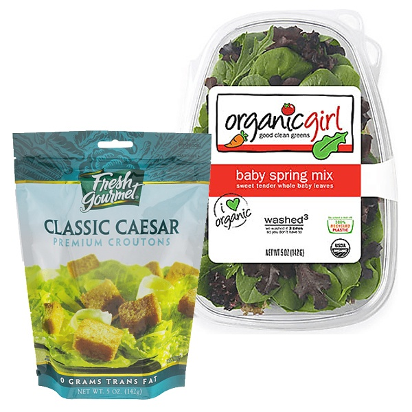 Organicgirl Salads and Fresh Gourmet Croutons or Strips