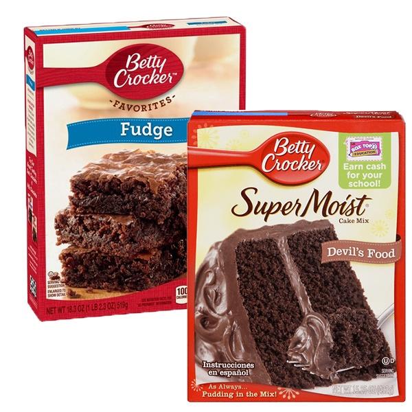 Betty Crocker Supermoist Cake Mix or Favorites Brownie Mix