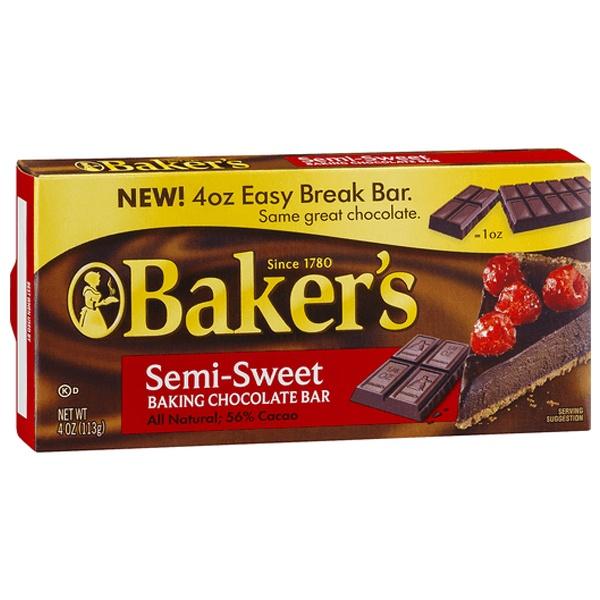 Bakers Chocolate Baking Bars