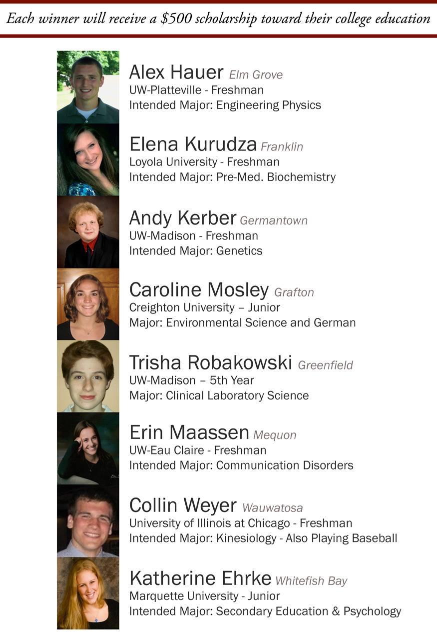 2010 WGA Scholarship Winners