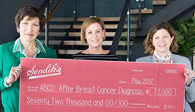 Sendik's presents ABCD with a check for $72,000