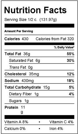 Albacore Tuna Twist Pasta Salad Nutrition Facts