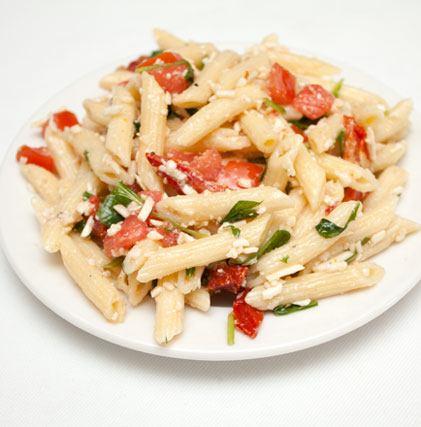 Arugula Sun Dried Tomato and Asiago Pasta Salad