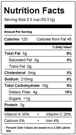 Barely Barley Nutrition Facts