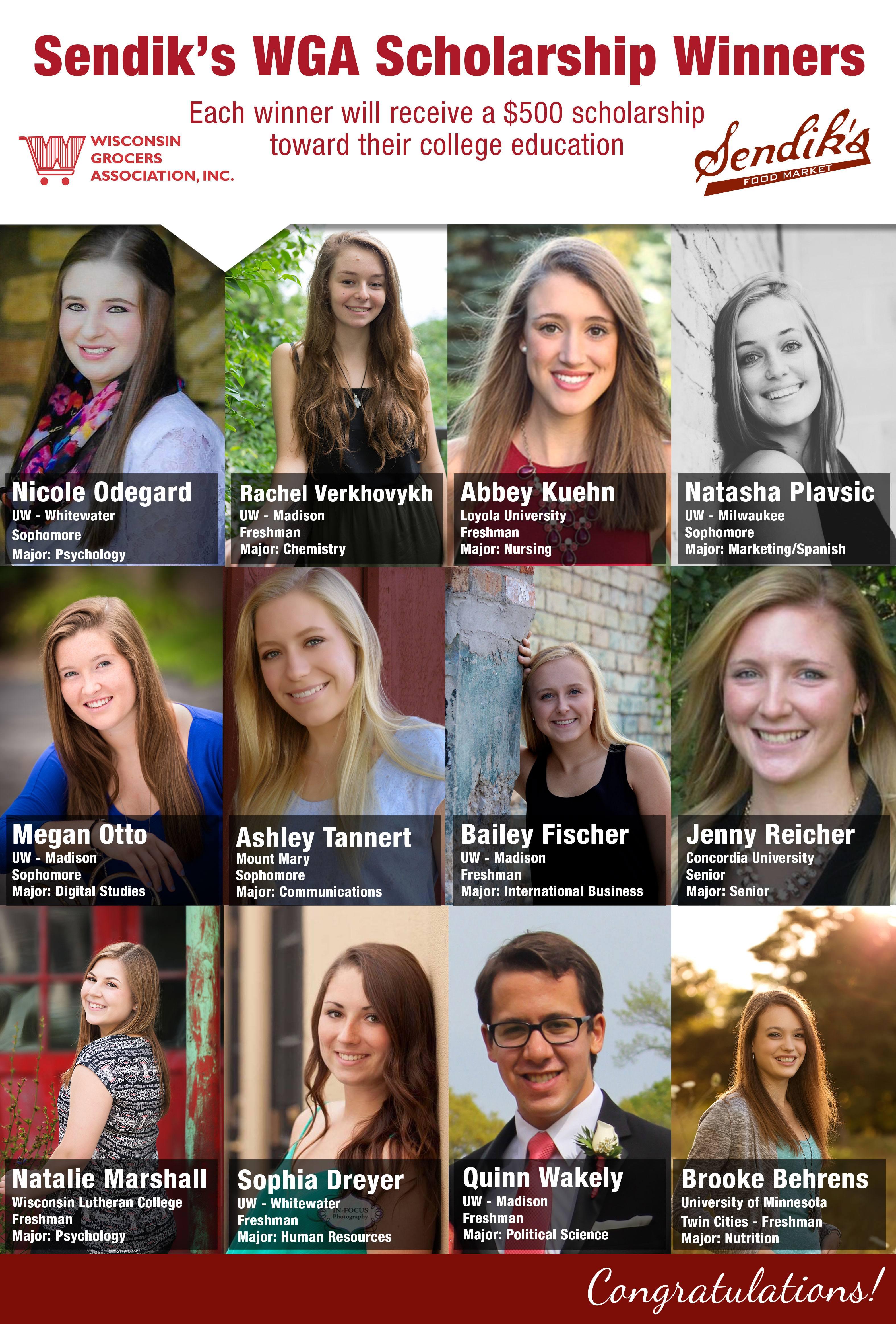 2016 WGA Scholarship Winners