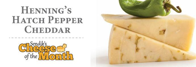 August Cheese of the Month - Henning's Hatch Pepper Cheddar