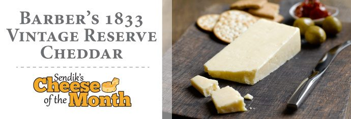 November Cheese of the Month - Barber's 1833 Vintage Reserve Cheddar