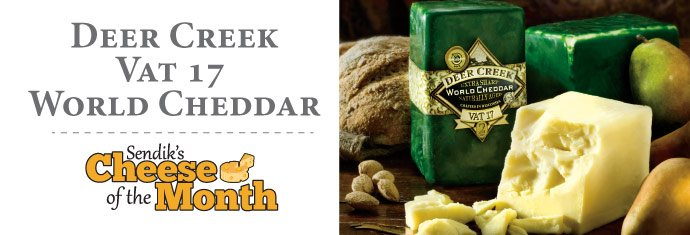 January Cheese of the Month - Deer Creek Vat 17 World Cheddar