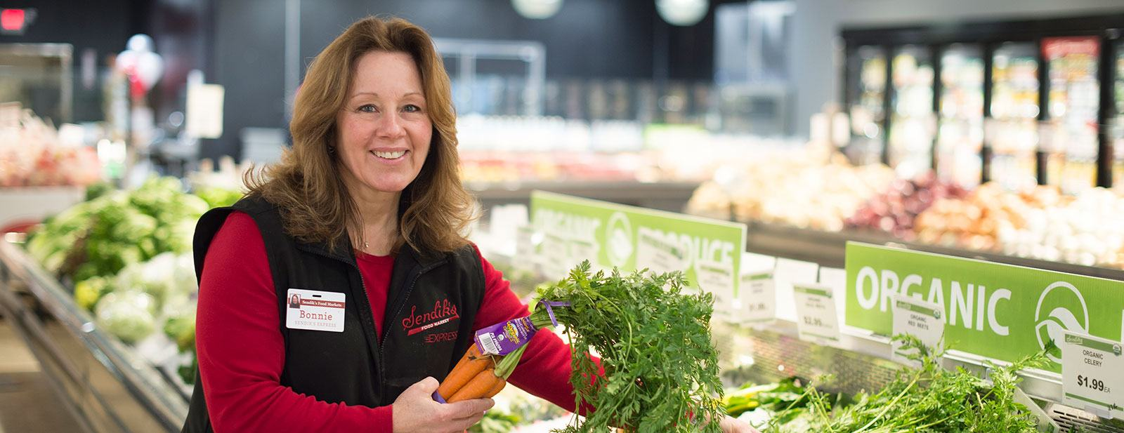 Sendik's Personal Shopper Bonnie in Produce Department