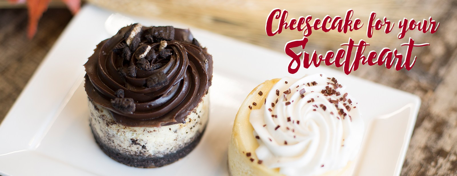 Cheesecake for your sweetheart!