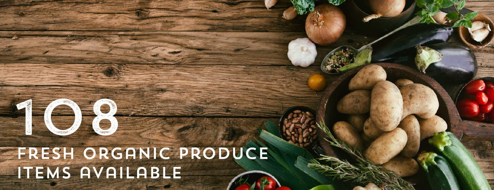 108 Fresh Organic Produce Varieties Available