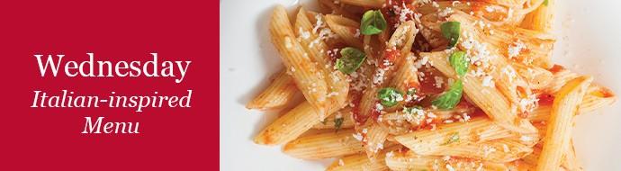 Wednesday Italian Inspired Menu