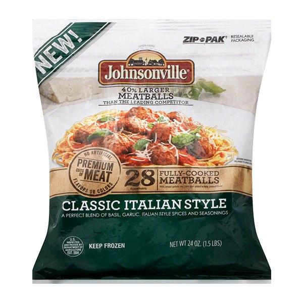 Johnsonville Classic or 3 Cheese Italian Meatballs