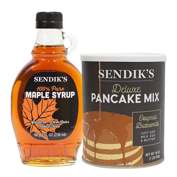 Sendik's Grade A Wisconsin Maple Syrup & Sendik's Panckae Mix