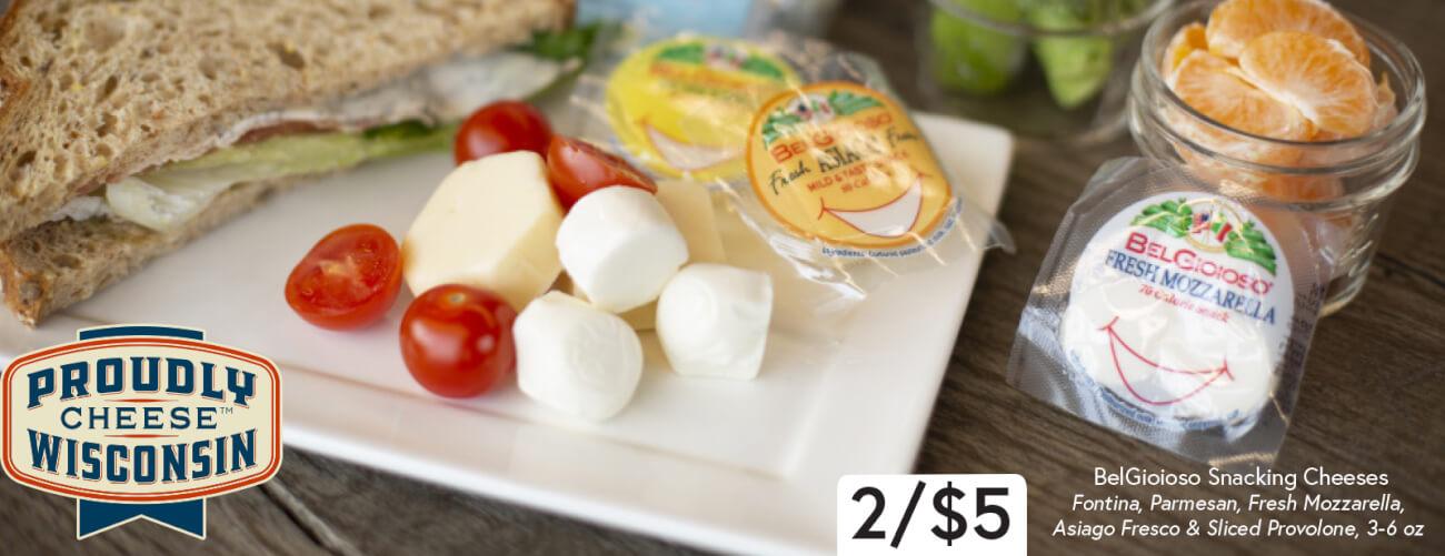 Belgioioso Snacking Cheese 2/$5