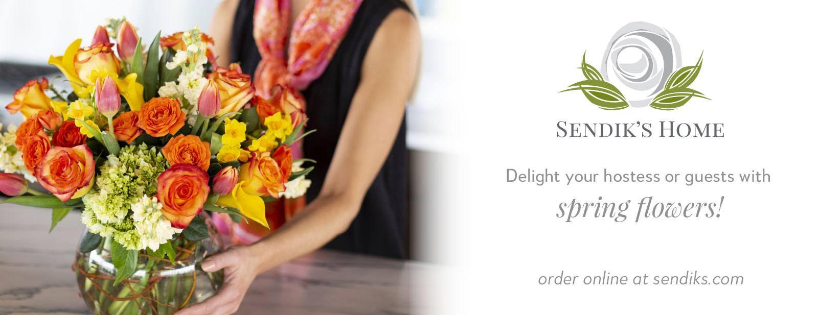Delight your hostess or guests with spring flowers!