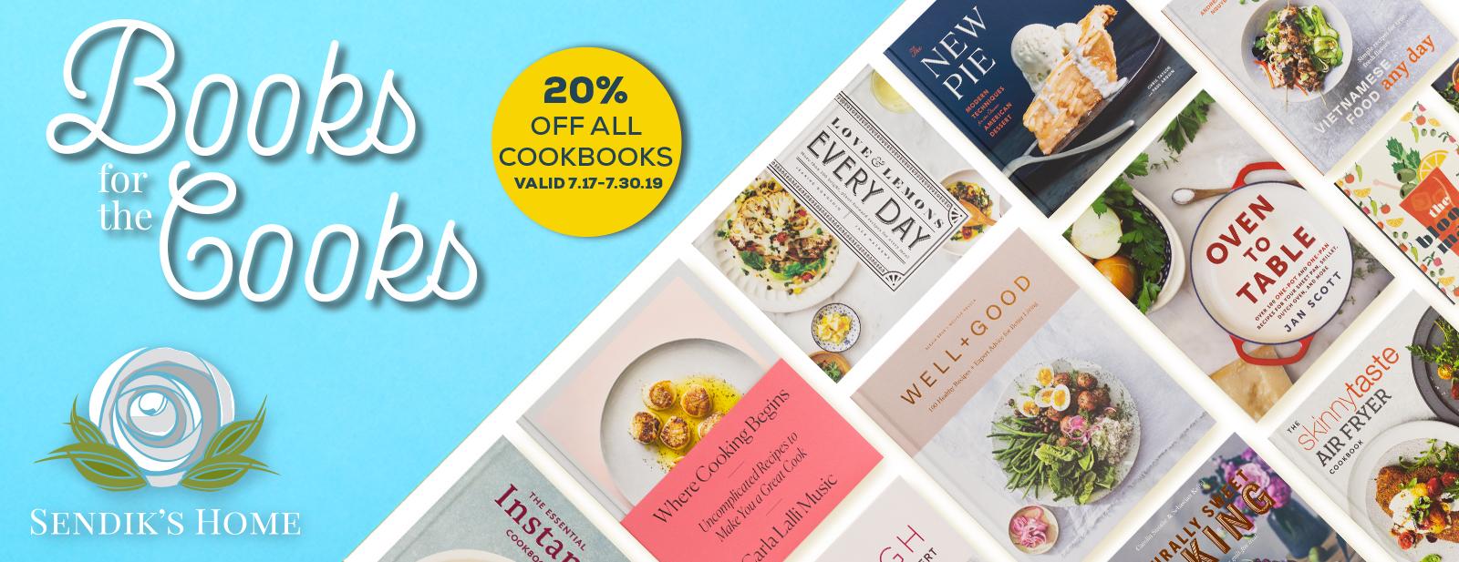 20% Off All Cookbooks
