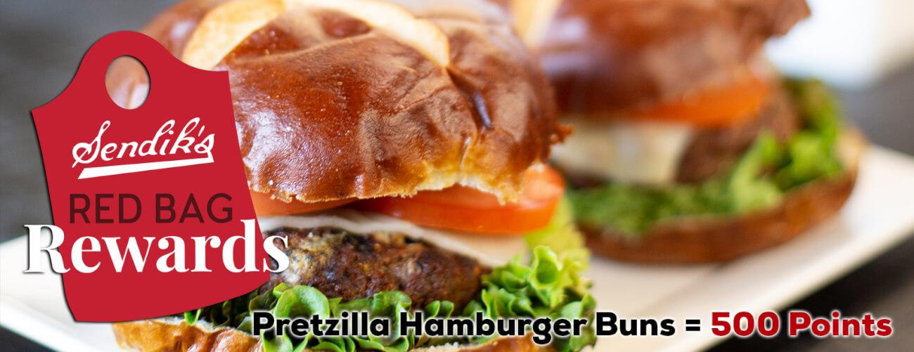 Pretzilla Hamburger Buns = 500 Points