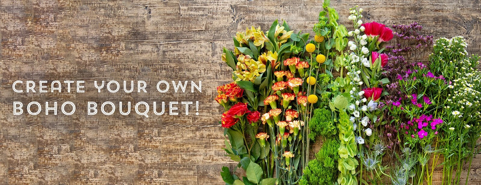 Create your own boho bouquet!