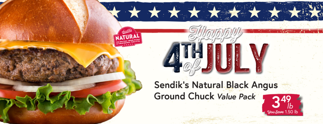 Sendik's Natural Black Angus Ground Chuck $3.49 lb