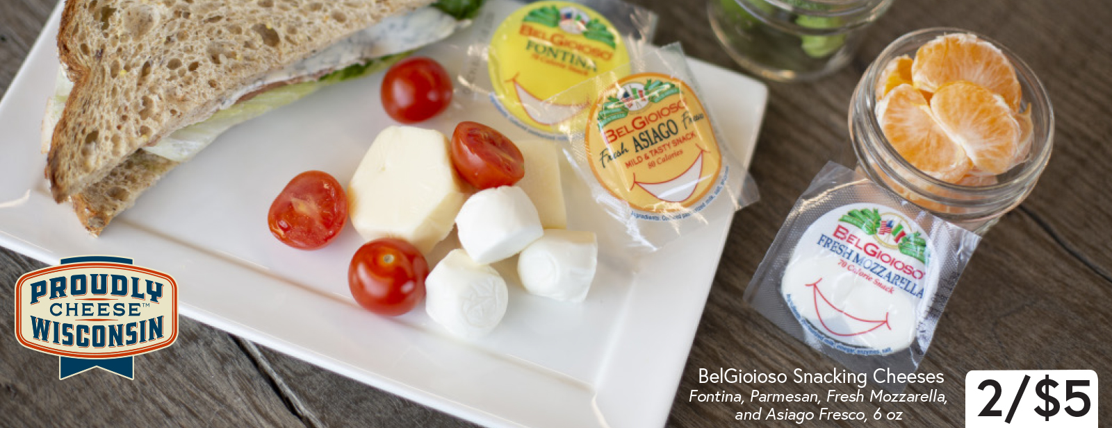 BelGioioso Snacking Cheeses 2/$5 6 oz