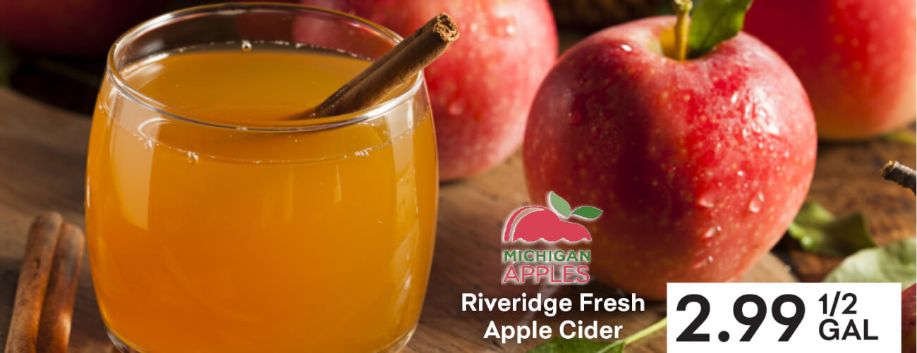Riveridge Fresh Apple Cider $2.99 1/2 gallon