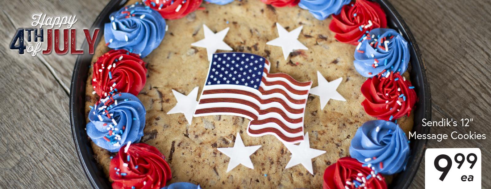 """Sendik's 12"""" Message Cookies $9.99 each"""