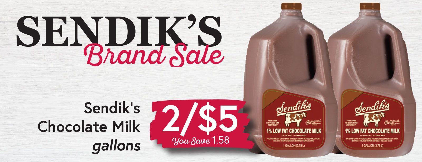 Sendik's Chocolate Milk Gallons 2/$5