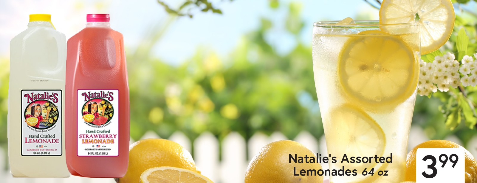 Natalie's Assorted Lemonades $3.99 64 oz