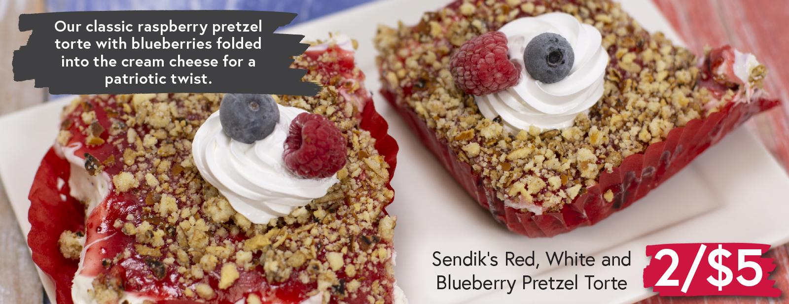 Sendik's Red, White and Blueberry Pretzel Tortes 2/$5