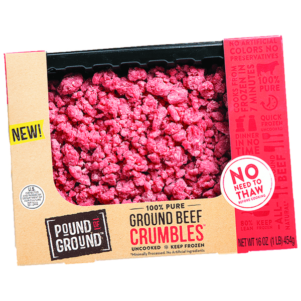 Pound of Ground Beef Crumbles