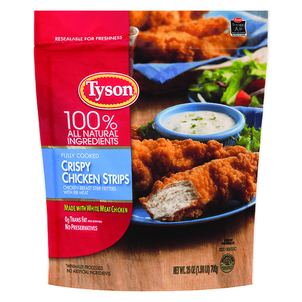 Tyson Chicken Strips, Nuggets, Patties or Anytizers